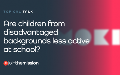 Are children from disadvantaged backgrounds less active at school?