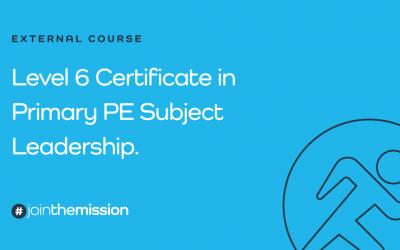 Level 6 Certificate in PE Subject Leadership