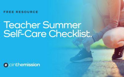 Free Resource: Teacher Self-Care Checklist